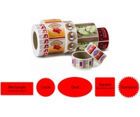 High quality food health products custom waterproof printing lables and stickers