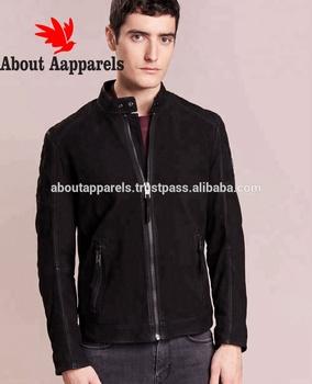 83937dc3b Новая мода оптовые производители одежды мужские замшевые куртки с меховым  воротником, черные мужские байкерские замша