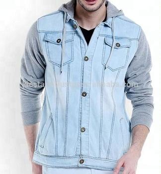 2018 Whole Sale Best Quality Light Blue Fashion Hoodie Denim Jacket Men Pakistan Buy Lite Denim Jacket Hooded Fashion Denim Jacket Whole Sale Denim
