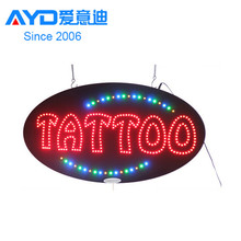 Hohe Qualität Ali Express Fabrik LED Tattoo Piercing Neon Zeichen LED Brief Display