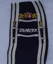 Azul oscuro Pipe Band Drum major encargo baldric SASH