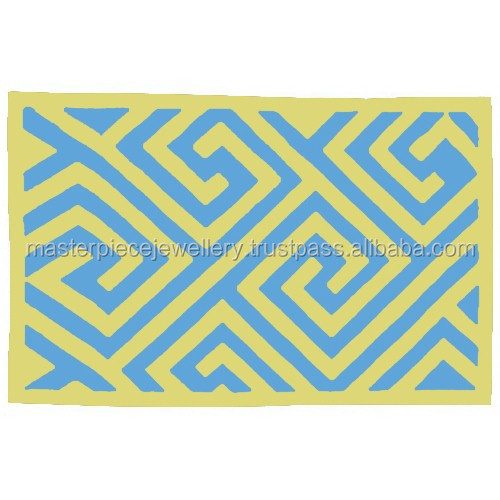 Simply Beautiful Blue 4x99 INDOOR Reversible Polypropylene Discount Colorful Floor Rugs Karpet Wool Mats