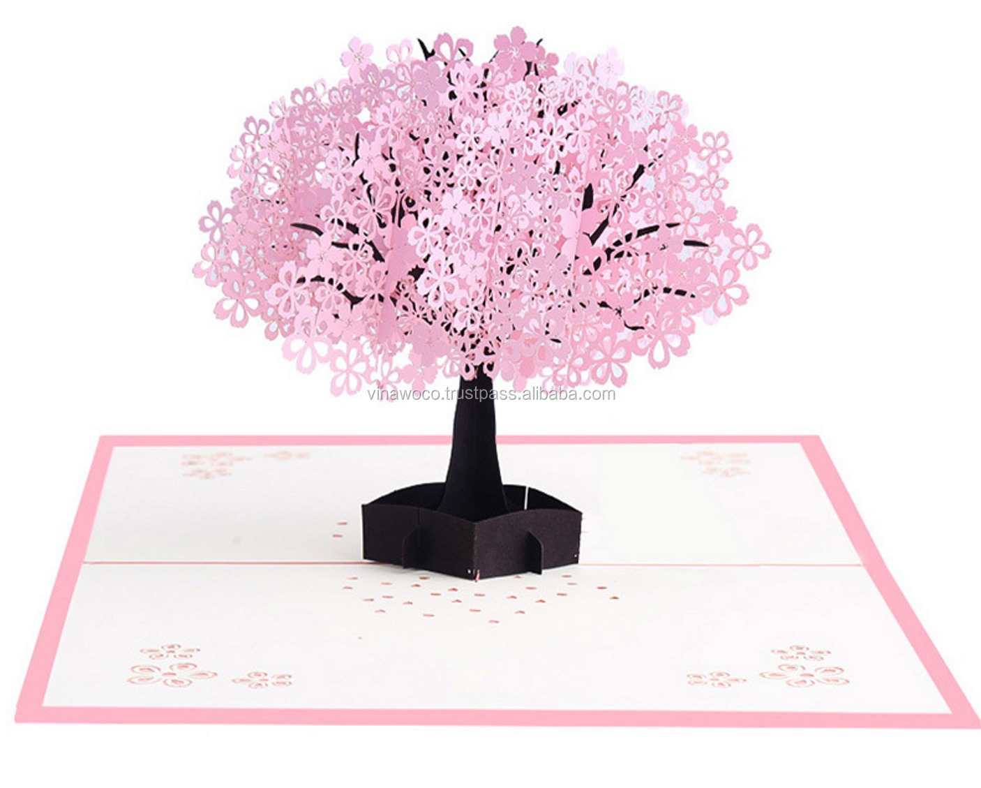 Deluxe Cherry Blossom Tree 3d Pop Up Cards Puberty Ceremony Invitation  Cards Baby Naming Ceremony Invitation Cards - Buy Handmade 3d Invitation