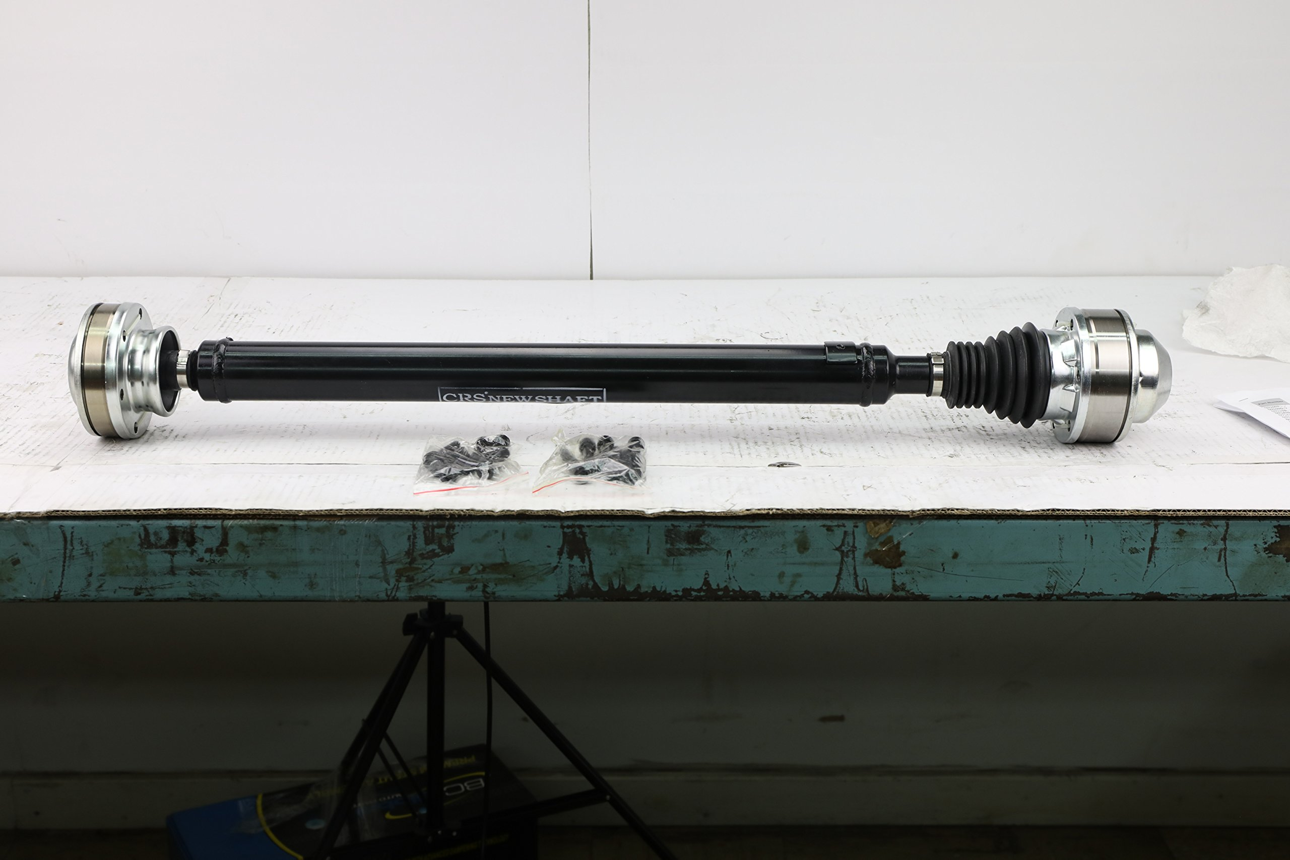 "CRS N99072 Prop shaft/ Drive Shaft Assembly, Front, for 2005- 06 Jeep Grand Cherokee V8 4.7L Eng, 2005- 10 Jeep Grand Cherokee V8 5.7L Eng.(V6 3.7L), 4WD/ AWD, w/ NV245 Transfer Case, about 34"" long"