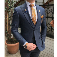 New Design Italy Design Men Suit Navy Blue and Business Suit