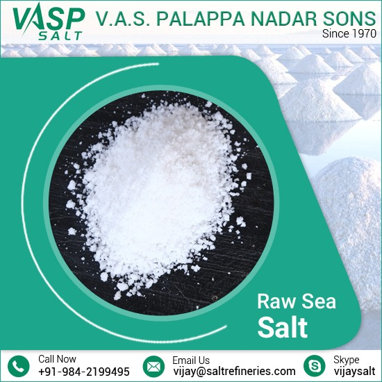 Leading Exporter of Good Quality Hygienically Processed Edible Raw Sea Salt