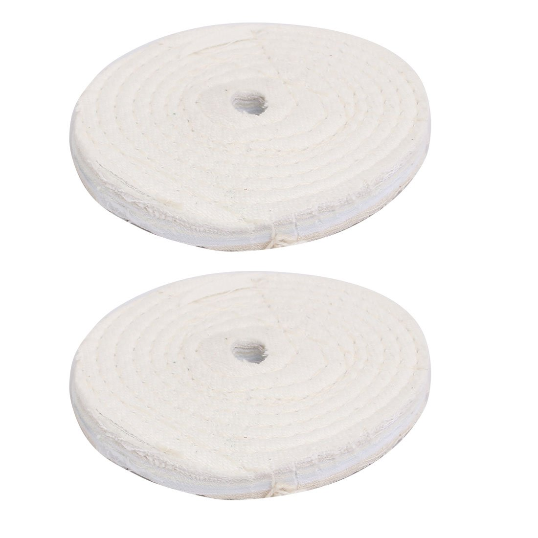 6-Inch by 5//8-Inch Hole White Woodstock D3194 Bias Soft Buffing Wheel