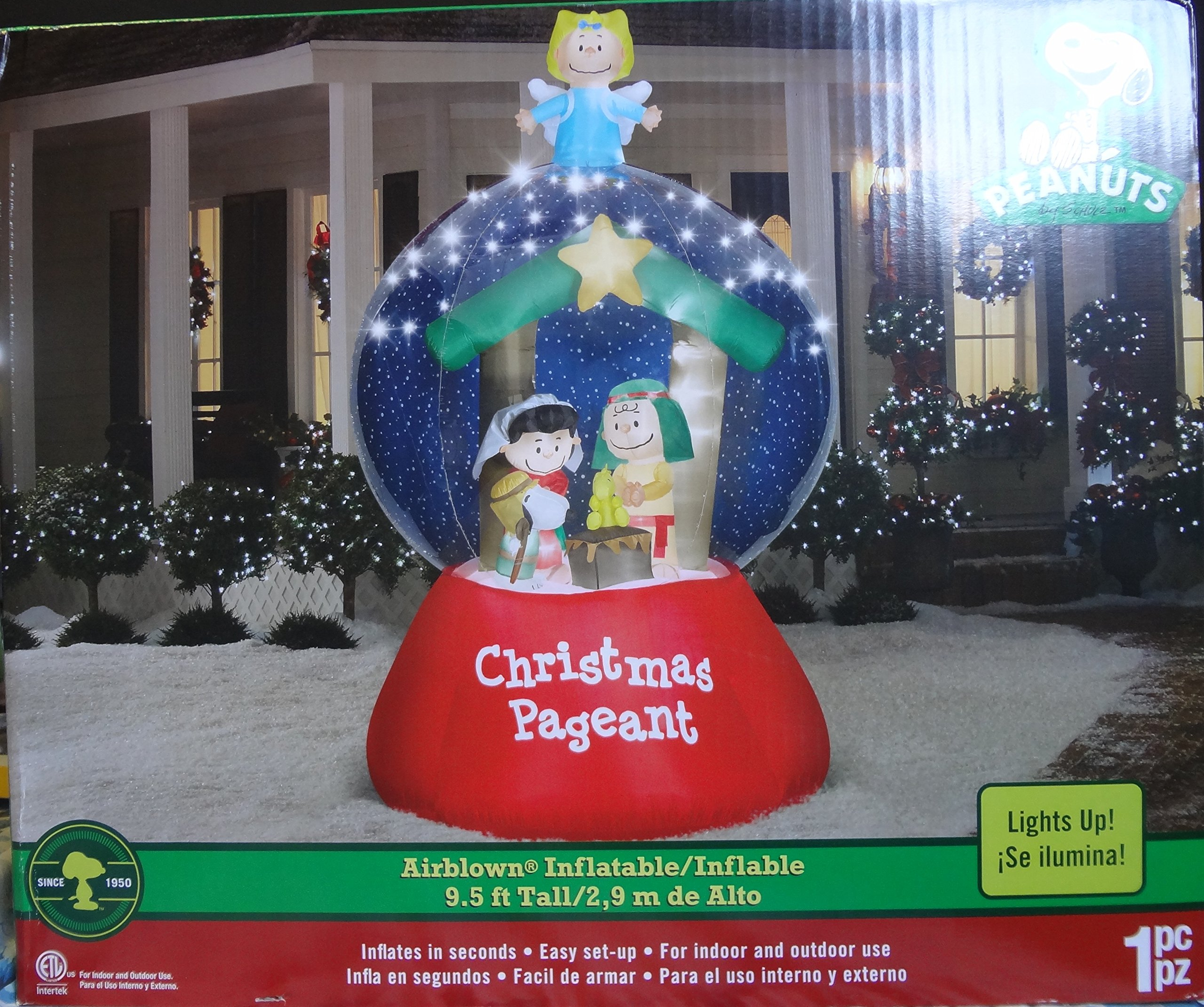 get quotations peanuts christmas airblown inflatable 95 ft tall29 m