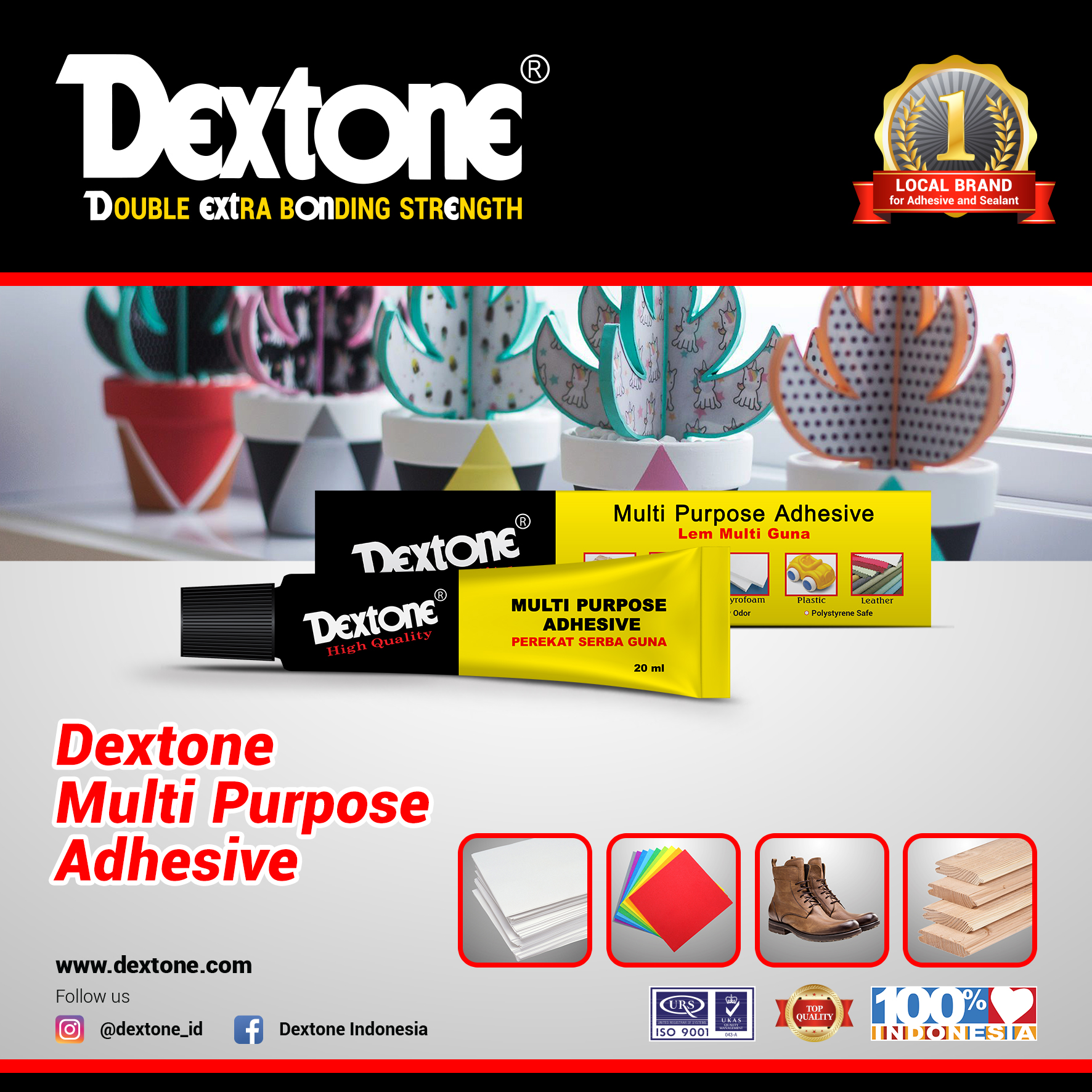 Dextone Multifunctionele Clear Contact Lijm