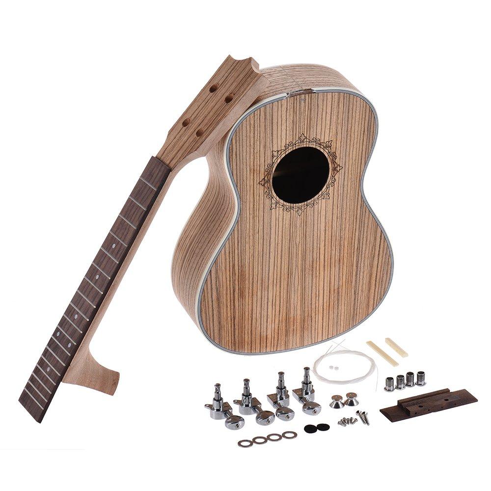 23 Inch Concert Ukulele Neck+fingerboard Zebrawood Veener Ukulele Neck Fingerboard Diy Hawaii 4 String Guitar For Ukulele Guitar Parts & Accessories Stringed Instruments