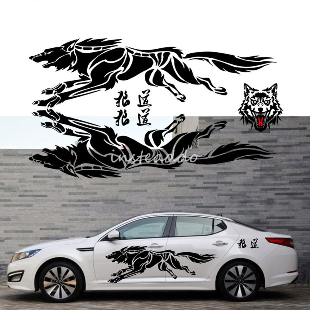 Custom fancy sport racing pvc vinyl body wrap decal design car sticker