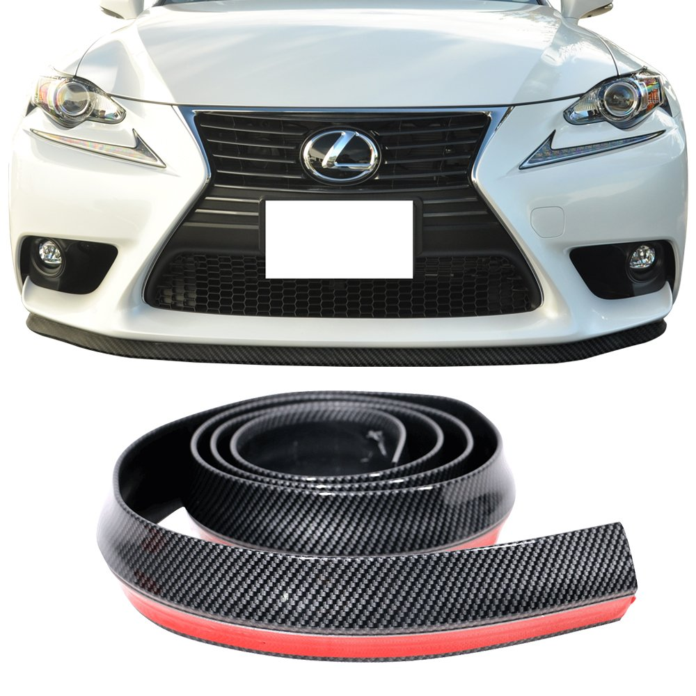 Buy Front Bumper Lip Universal Fitment Pvc Carbon Look Black Ez Install Air Dam Chin Quick Lip Diffuser Valance Protector Strip By Ikon Motorsports In Cheap Price On Alibaba Com
