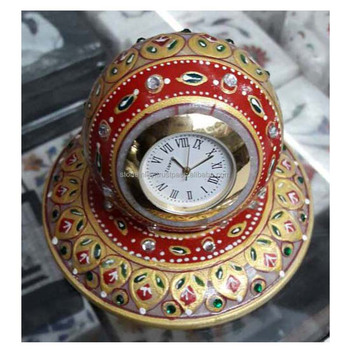 Marble Watch,Gift Items,Indian Art - Buy Marble Antique Decorative Bedside  Table Clock,Some Decorative Timer,Marble Carving Gift Items Product on