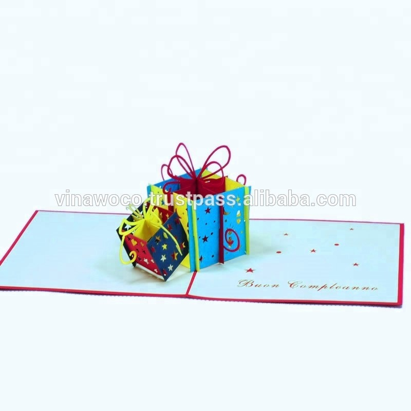 Surprise 2 Gift Boxes Happy Birthday 3d Pop Up Card Birthday Box Buy Birthday Box Birthday Cake Box Kids Birthday Cakes Product On Alibaba Com