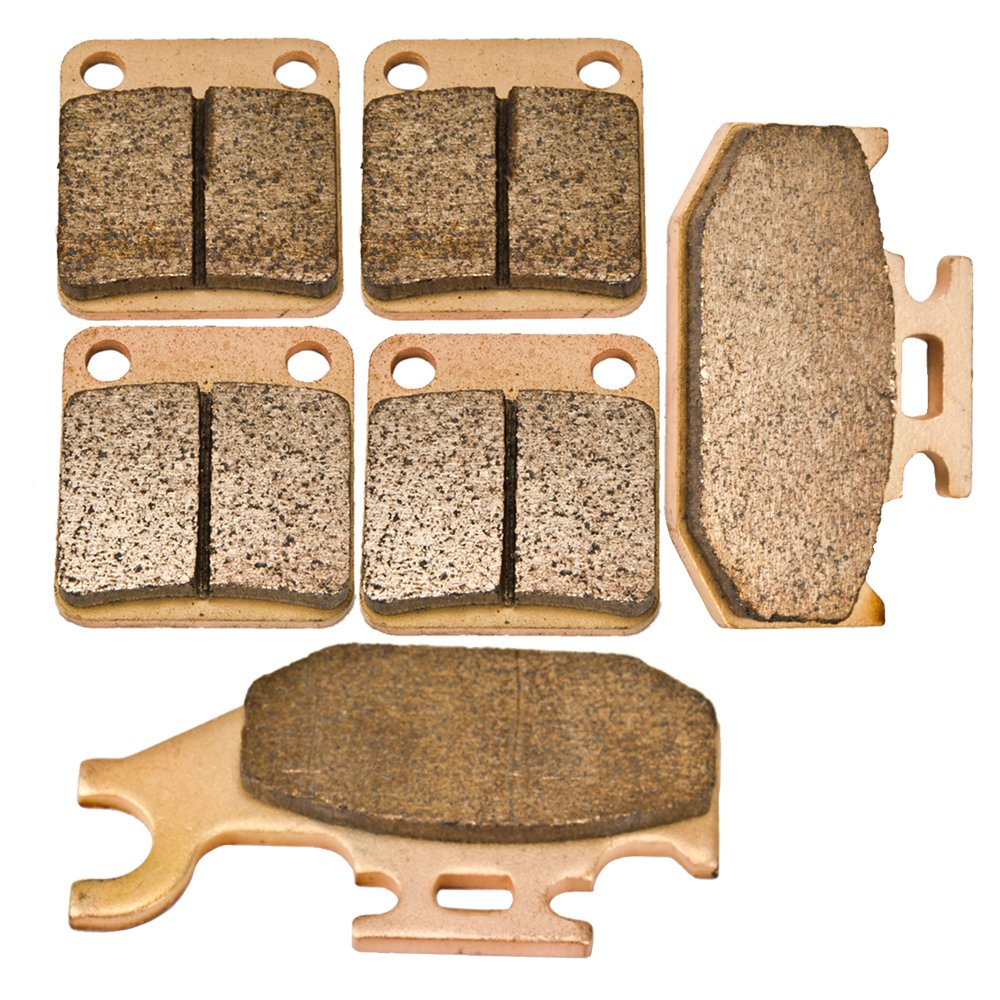 Front and Rear Sintered Brake Pads for Yamaha YFM 450 Grizzly Kodiak Wolverine 2003-2010