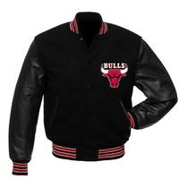 BULLS RED AND BLACK ribbed soft comfortable Varsity Jacket College Baseball Jacket Fashion Slim Fit Cool Brand top Jacket