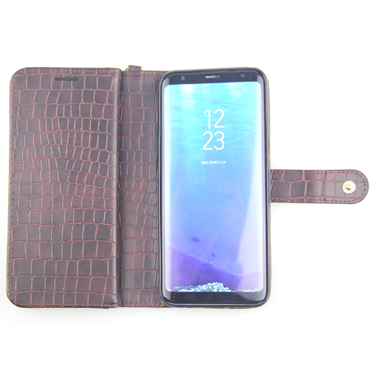 hot selling products stand wallet leather case for galaxy s8