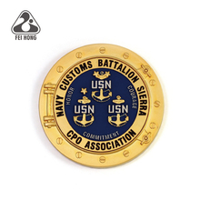 Custom mat 금 plated navy 도전 coins