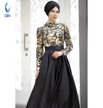cd2745c4492 2018 Fashion New Design Islamic Clothing Muslim Dress Evening Abaya Black  701242