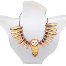 Best Handmade Jewelry Barn Owl Necklace