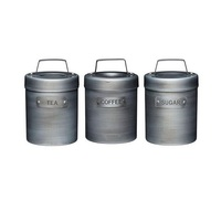 Food storage Tin Canister Set