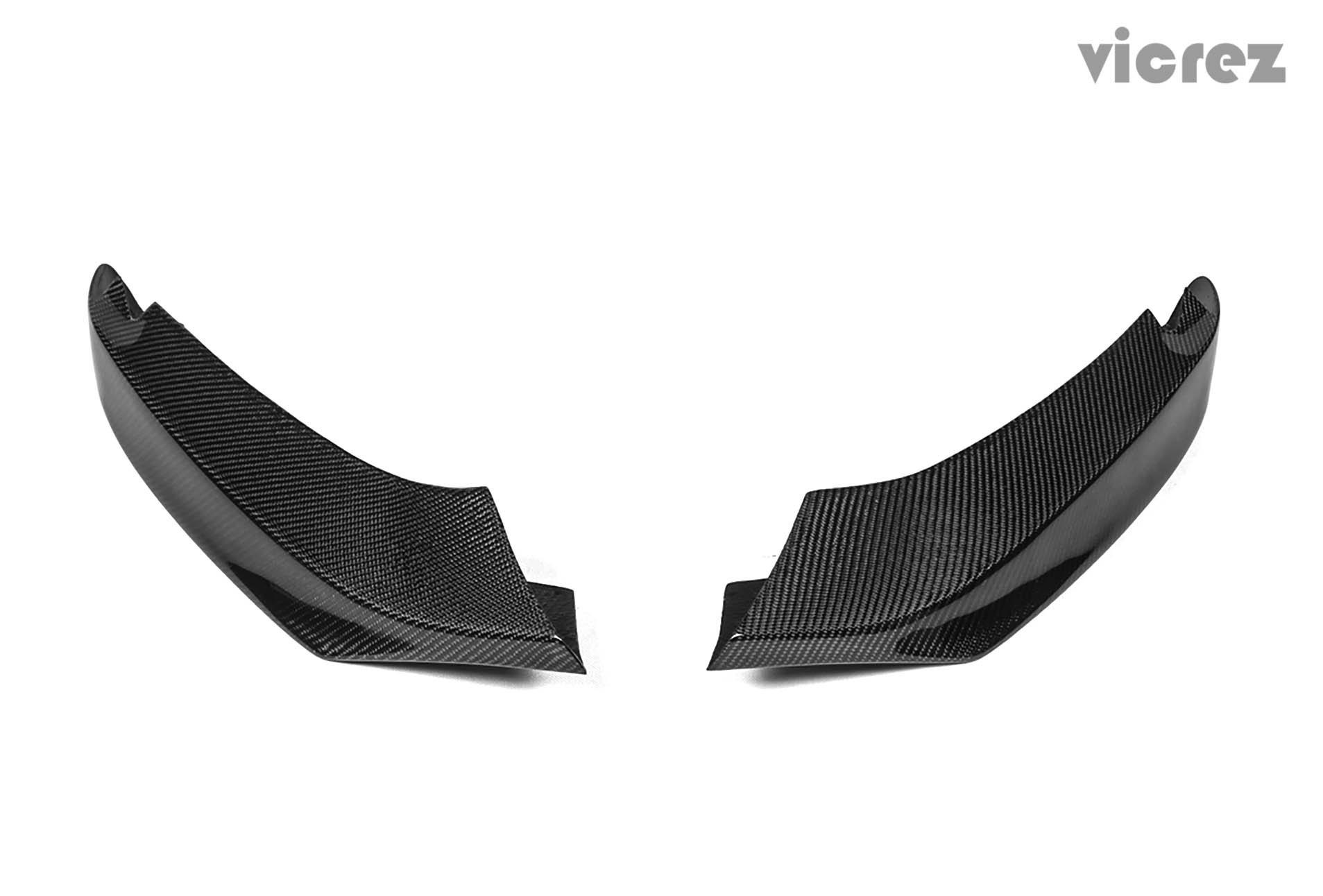 Vicrez BMW 4 Series F32 F33 F36 M sport 2014-2016 Carbon Fiber Front Bumper Splitters - vz100415