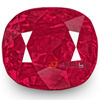 9 Carat Rare Unheated Eye-Clean Fiery Pinkish Red Mozambique Cushion cut Ruby buy online in Japan