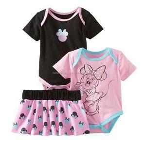 Cheap price wholesale bangladesh baby t-shirt organic cotton baby clothing set 3 pcs