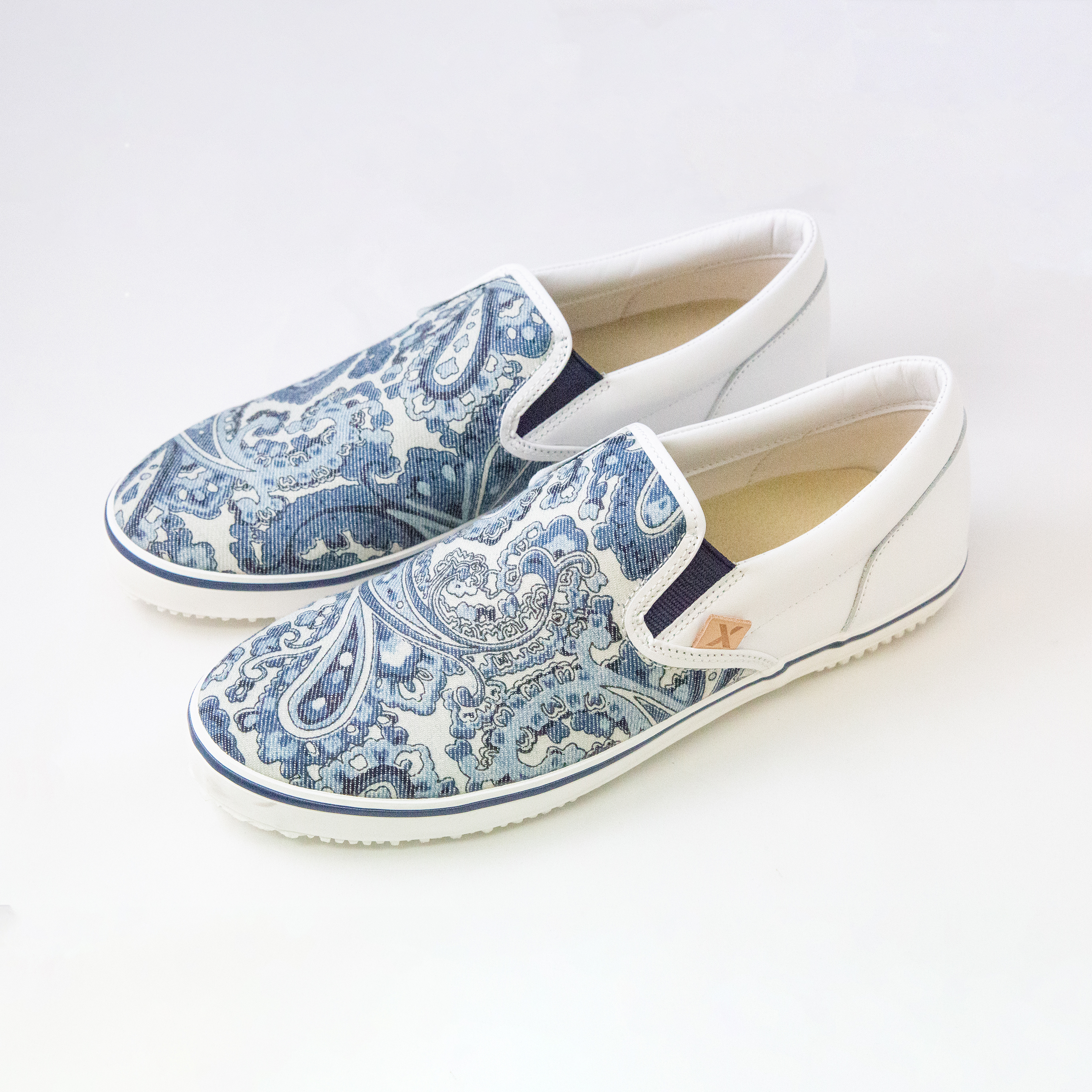 Slip On Jeans Men Canvas Shoes Made In