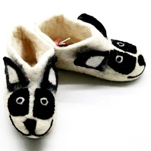 a2df1554fa63 FSS-004 Sheep Faced Eco-friendly Indoor Warm Felt Shoes and Booties New  Zealand