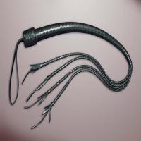Soft Faux Leather Floggers and Black Tassels Whips Best quality by TAIDOC