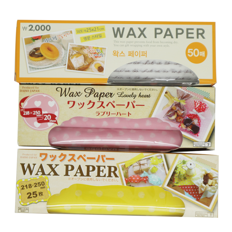 50pcs/pack colored wax paper for candy wrapping