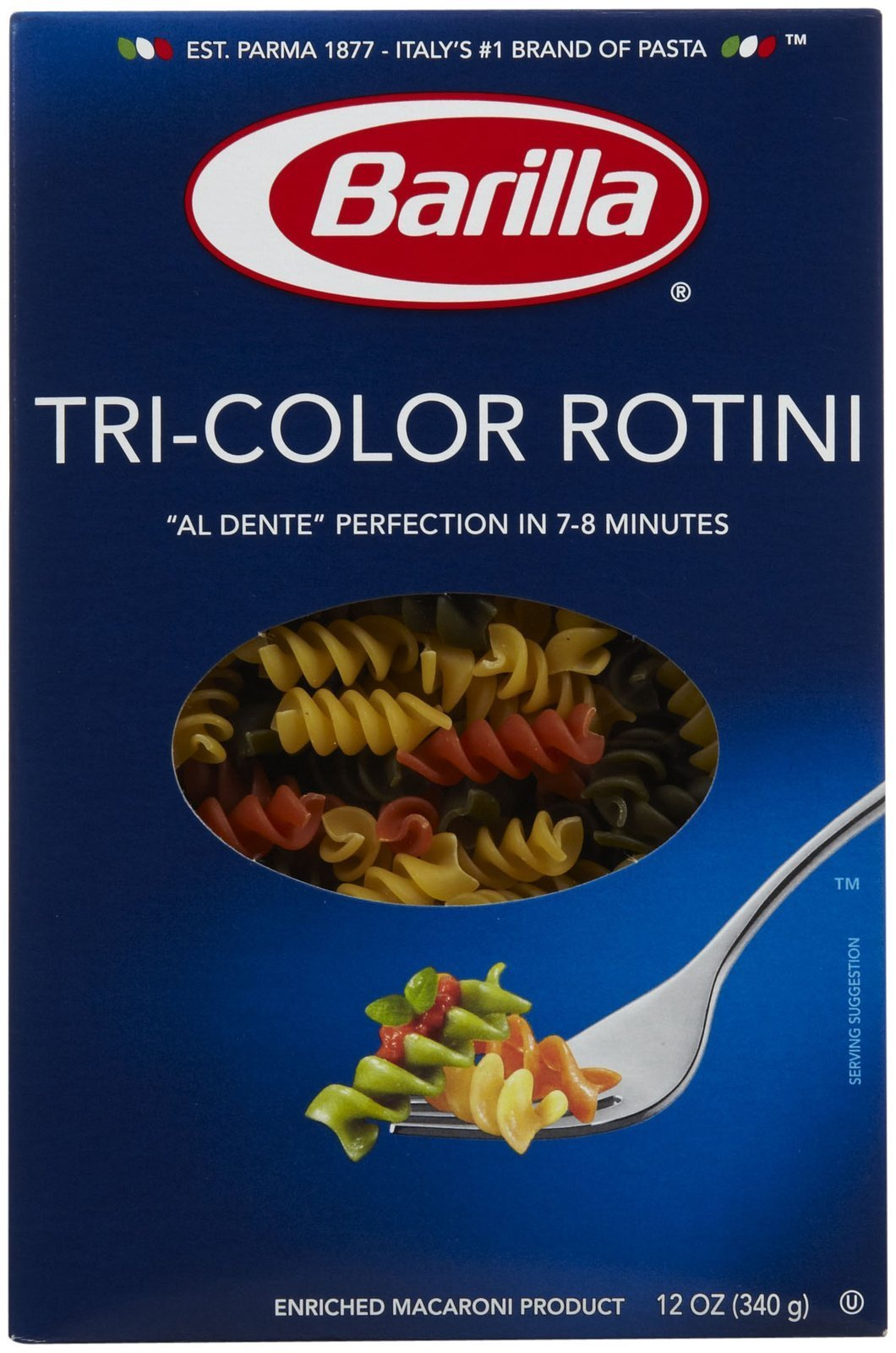 Barilla Tri-Color Rotini - 12 oz