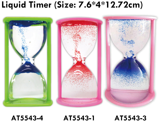 High Quality 3 Colors Liquid Oil Timer Plaything
