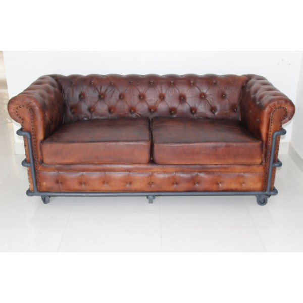 Tremendous Industrial Vintage Solid Wood Genuine Leather 3 Seater Living Room Sofa Buy Executive Living Room Sofa European Living Room Leather Sofa Leather Gmtry Best Dining Table And Chair Ideas Images Gmtryco