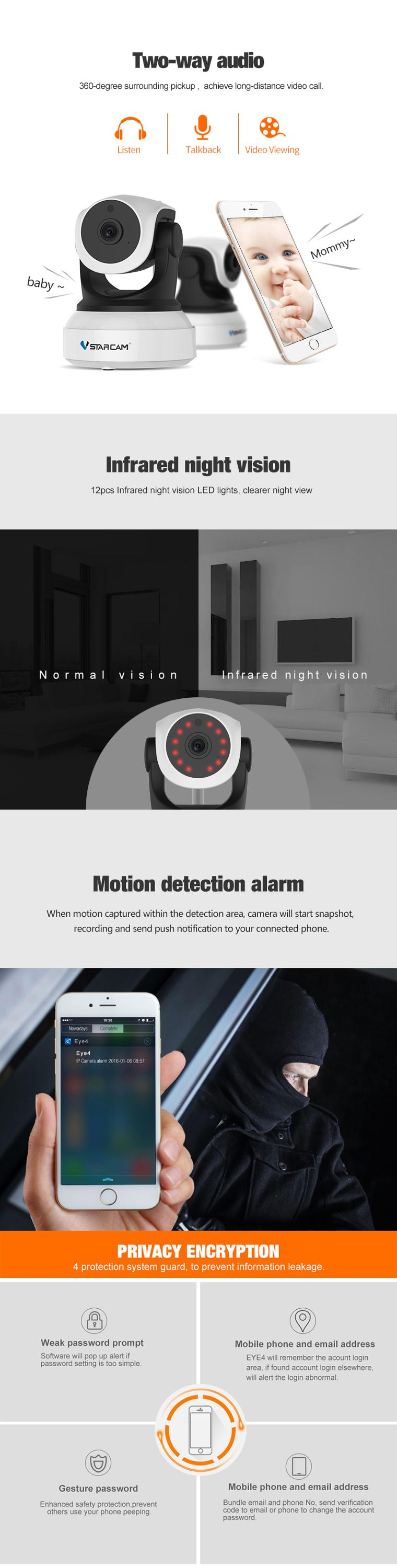 Vstarcam C24s 1080p Home Assistant Ip Camera Motion Detection - Buy Home  Assistant Ip Camera Motion Detection Product on Alibaba com