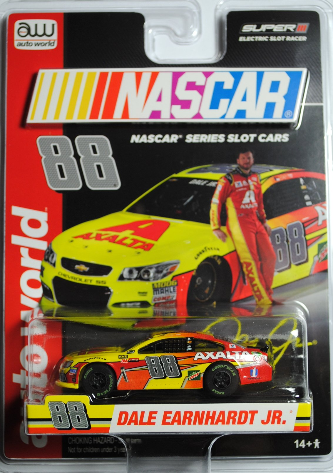 1736fd1da14 Get Quotations · AW SC324 NASCAR  88 DALE EARNHARDT JR 2017 CHEVY SS  Electric Slot Car NEW!