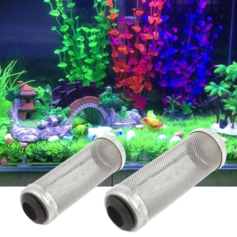 1PCS Aquarium Stainless Steel Metal Filter Tube Woopower Shrimp Guard Protect For Fish Tank (16mm)