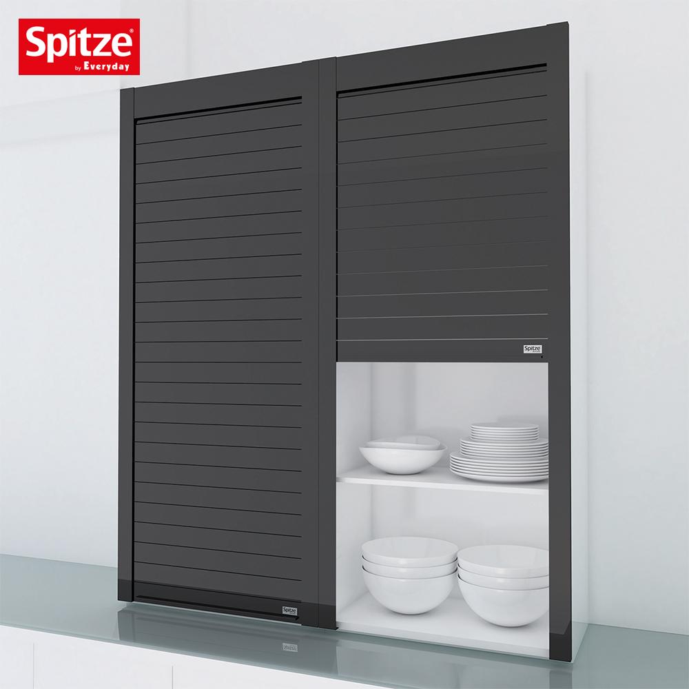 Black Glass Kitchen Cabinet Roller Shutter Door Buy