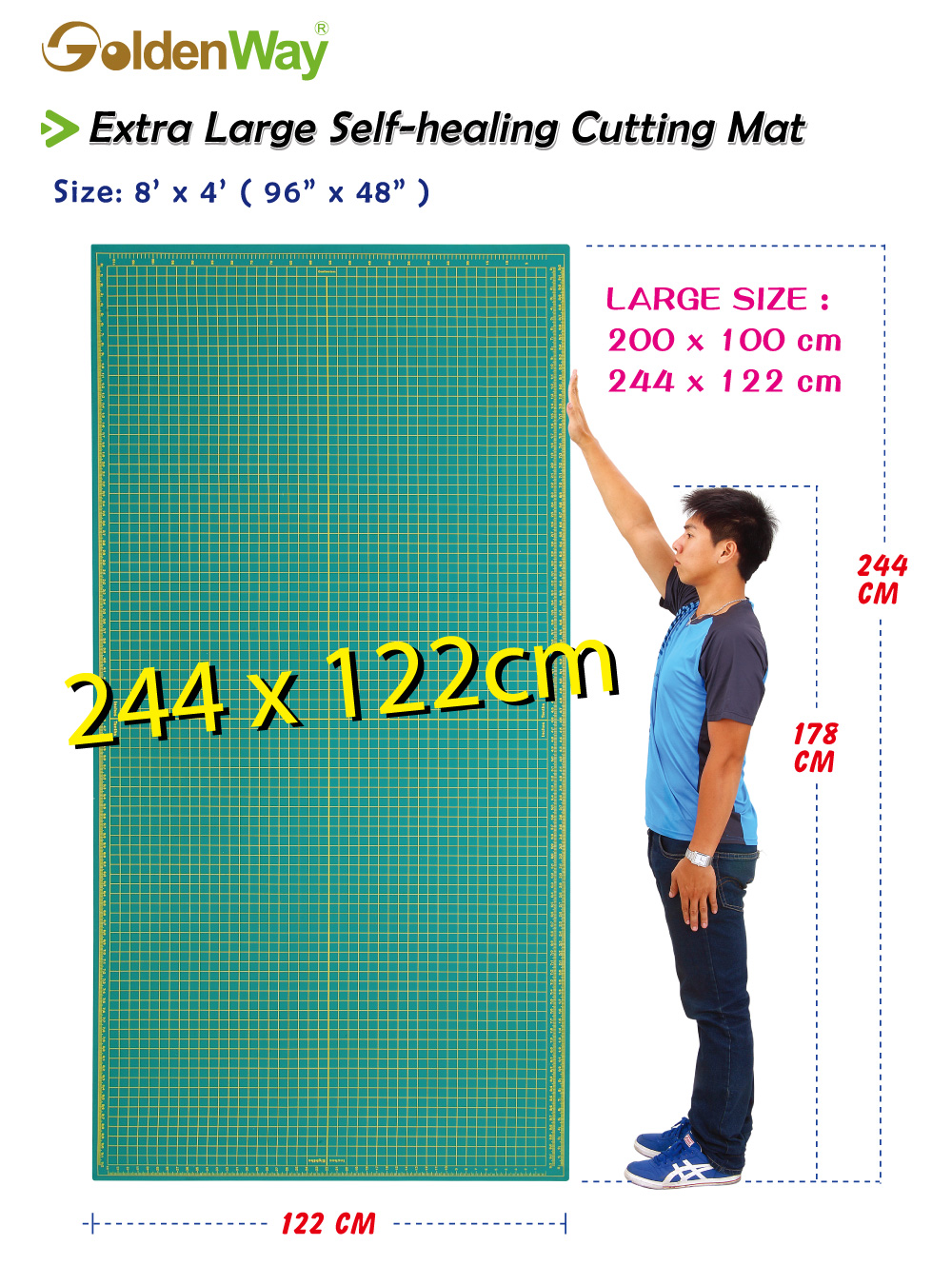 122 X 244 Cm Pvc Extra Large Size Self Healing Cutting Mat Buy Cutting Mat Self Healing Cutting Mat Large Size Cutting Mat Product On Alibaba Com