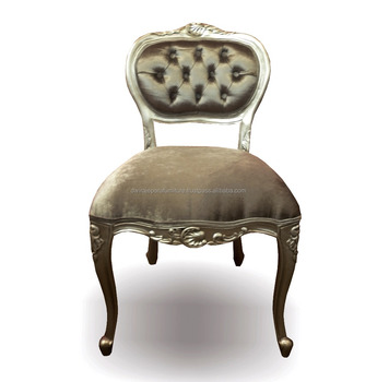 Mahogany Classic Love Dining Chair Silver Color   Indonesia French  Furniture Dining Room Chair   Buy Dining Chair,Classic Dining Chair,French  Dining ...