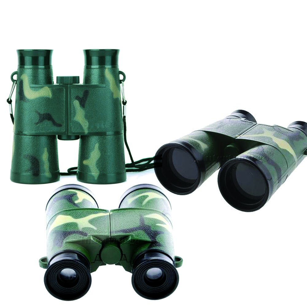 Army Camo Binoculars For Kids - Kids Set Toy Army Binoculars - Camouflage Binoculars Kids Play Outdoor Learning Toys - Great Children Binoculars