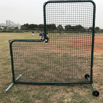 Heavy duty L-vormige beschermende screen frame w/netto voor pitcher training honkbal/softbal, pitching praktijk binnen batting kooi