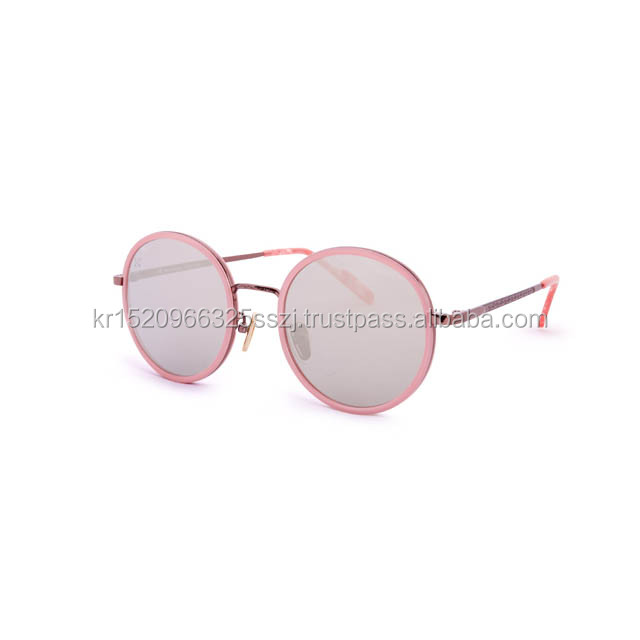 Made in korea 2017 wholesale cheap promotional sunglasses round plastic lens
