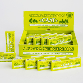 SAAT Natural No Sugar Larch and Cedar Chewing Gum