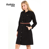 New Fashion Women Ladies Quality Long Sleeve Midi Comfortable Dress Jacket