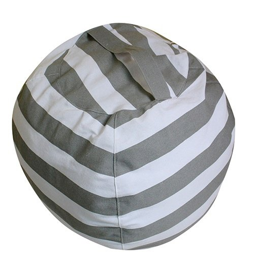 EXTRA LARGE Stuff 'n Sit - Stuffed Animal Storage Bean Bag Cover by Creative - Clean up the Room and Put Those Critters to Work for You! (Grey, 25 Inchs)