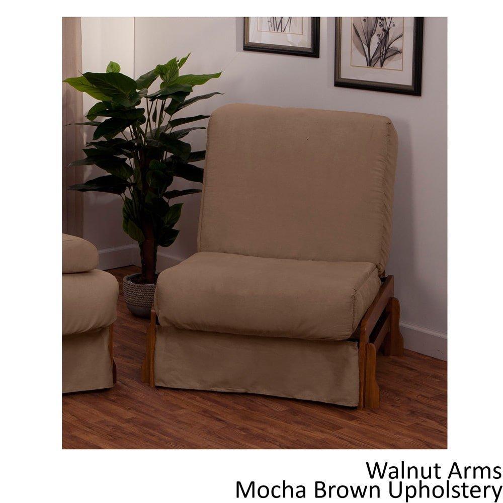 EpicFurnishings Boston Perfect Sit & Sleep Transitional-style Pillow Top Chair Sleeper Black/Black