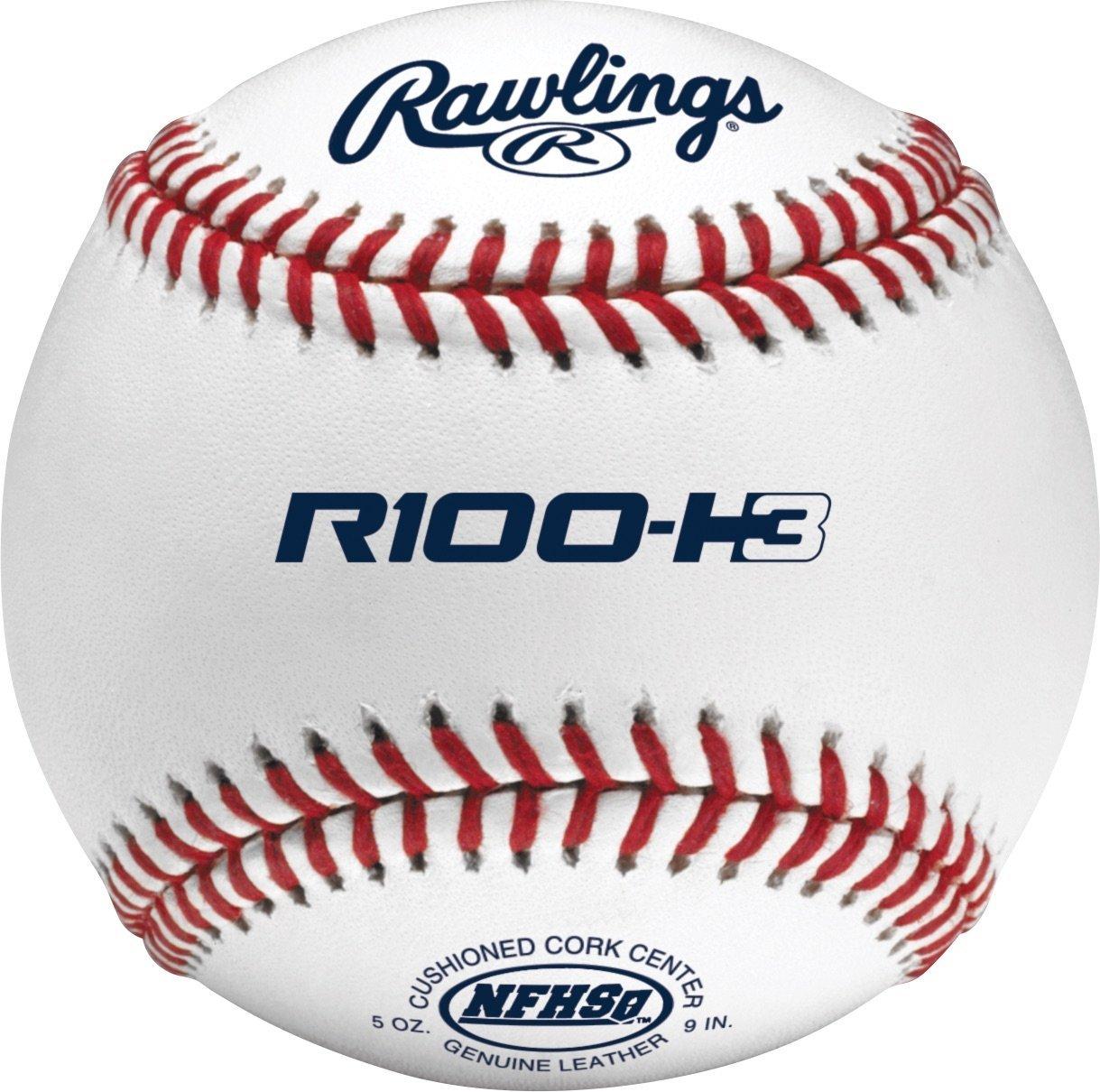 Rawlings Raised Seams Official NFHS High School Baseballs, 12 Count, R100-H3