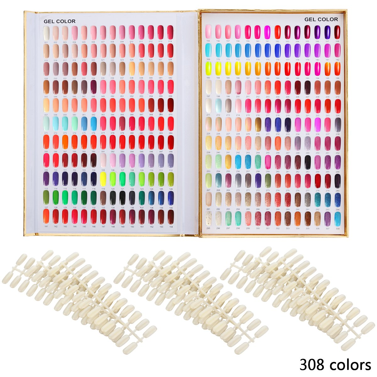 Cheap color chart find color chart deals on line at alibaba makartt 308 nail color chart display book golden nail polish uv gel color display nail salon geenschuldenfo Images